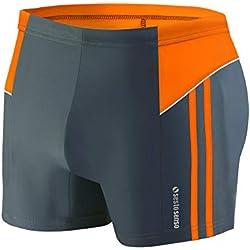 Sesto Senso® Maillot de Bain Homme Boxer Trunks Shorts Pantalon (Tailles de M à 4XL) Slips Natation de Sport BD 384 (XL, Graphite)