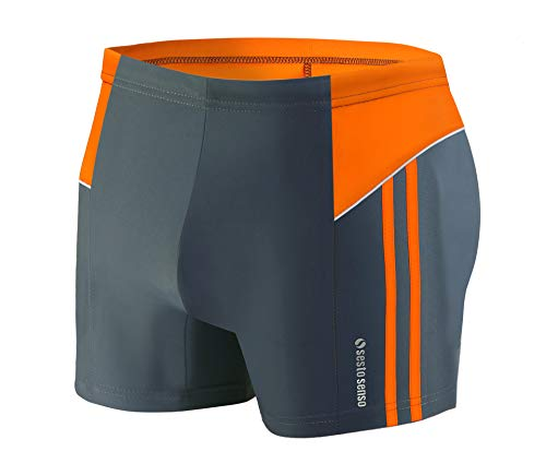 Sesto Senso Maillot de Bain Homme Boxer Trunks Shorts Pantalon (Tailles de M à 4XL) Slips Natation de Sport BD 384 (XL, Graphite)
