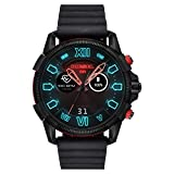 Diesel Mens Smartwatch with Silicone Strap DZT2010