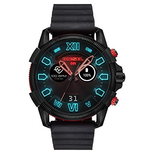 Diesel Herren-Smartwatch mit Silikon Armband DZT2010