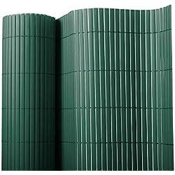 Floordirekt PVC Sichtschutz für Garten, Balkon & Terrasse Sichtschutzzaun | Sichtschutzmatte | Outdoor-Sichtschutz | Erhältlich in vielen Farben und Größen (180 x 1500 cm, Grün)