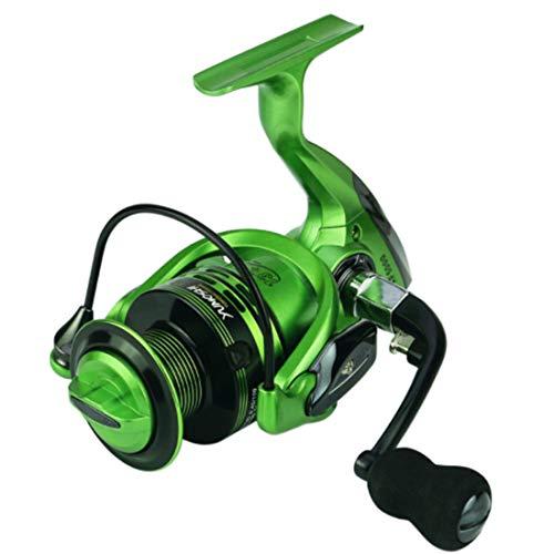 WYZSZMF Grüne Angelrolle mit Edelstahlkugellagern Links Rechts Austauschbarer Griff for das Salzwasser-Süßwasserfischen 13 + 1 Angelrad (Farbe : Grün, Size : XF5000)