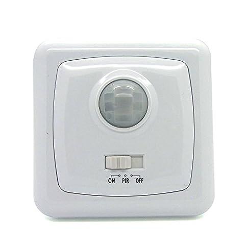 Bewegungsschalter 90° Sensor 1-Gang, 5 Meter, 2-1000 Lux PIR Unterputz Bewegungssensor automatischer