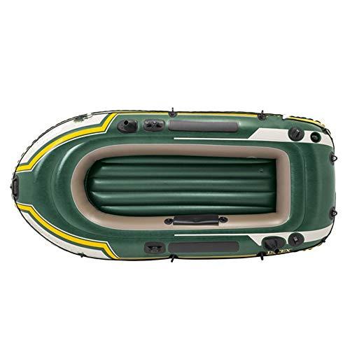 Kanqingqing Kajak 2 Personen Gummi Ruderboot Verdickung Zwei-Personen-Schlauchboot Armee-Grün, um Paddel und Pumpen zu senden (Farbe : Grün, Größe : 236×114×41CM)