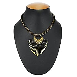 Shopolica Artificial Tribal Style Necklace For Women (Black)