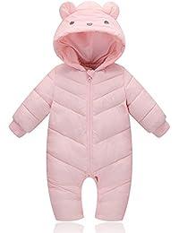 d7cc0c14f De feuilles Infant Baby Girls Boys Cute Thick Warm Snowsuit Romper Jumpsuit  Playsuit Clothing Outwear