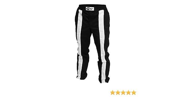 22-TR2-NW-XS K1 Race Gear Triumph 2 Single Layer SFI-1 Proban Cotton Fire Pants Black//White, X-Small