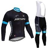 KHBUW Pantaloni da Ciclismo Termici Invernali Set Abbigliamento da Ciclismo 12D da Uomo Abbigliamento da Ciclismo da Uomo Abito da Ciclismo all'aperto Pantaloni da Ciclismo da Uomo@Multi_L