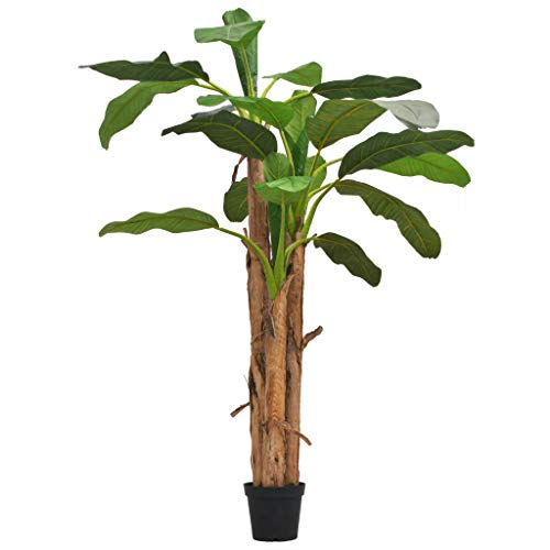 Festnight Kunstbaum Künstlicher Bananenbaum mit Topf 250 cm Grün