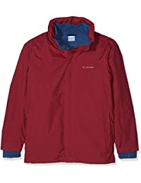 Columbia Mission Air Chaqueta para Lluvia, Hombre, Rojo (Red Element), L