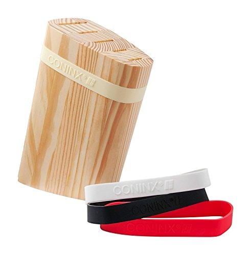 Messerblock Unbestückt Holz / Messerhalter von Coninx | Messerständer aus hochwertigen Kiefernholz gefertigt | Messerhalter für eine organisierte und aufgeräumte Küche