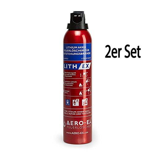 MedX5 2x AVD Feuerlöscher für A, E, und Li-IONEN-AKKU Brände, Lithium-Ionen-Akku 400 ml...