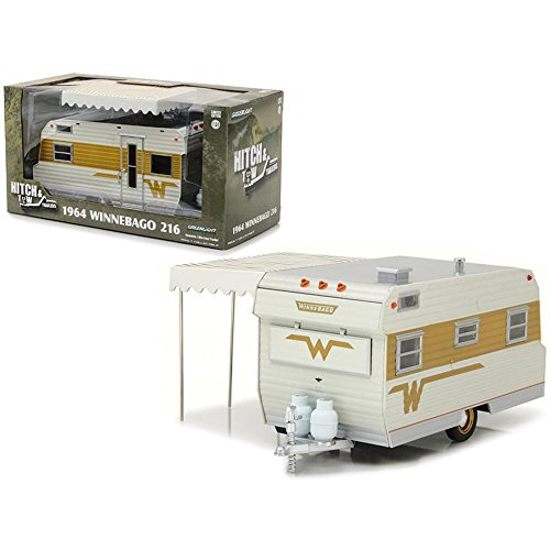 Greenlight 1: 24Anhängerkupplung & Tow 1964Winnebago Travel Trailer 216(18420-b) Druckguss Fahrzeug (Toy Travel Trailer)