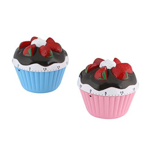 Kurzzeitwecker 1 Stk. Kurzzeitmesser Eieruhr Cupcake Design Muffin zwei Farben