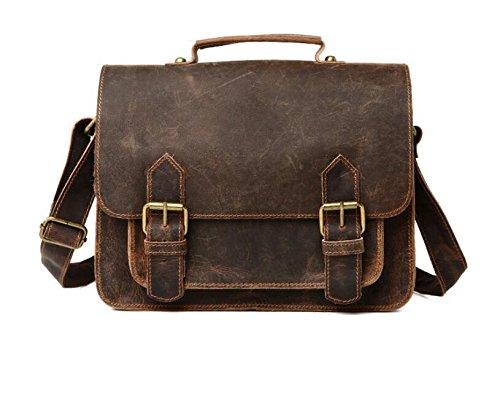 DJB/ Leder Mann Tasche Retro-poliert Leder Herren casual Mode Laptop Schulter Umhängetasche 2