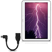kwmobile Adaptador micro USB angular – USB 2.0 de 10 cm