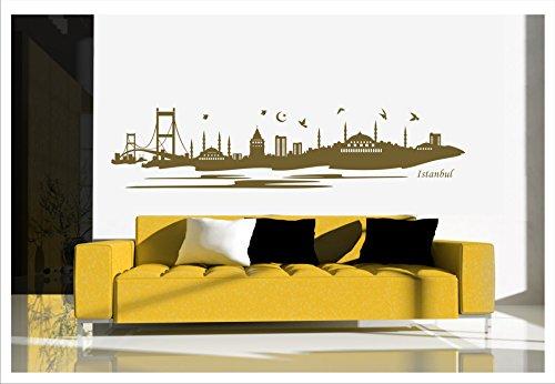 alternatif - Wandtattoo Istanbul Türkei Islam Besmele Osmanli Arabisch Türkiye Istanbul-1 (Gold, M / 120 cm X 25 cm)