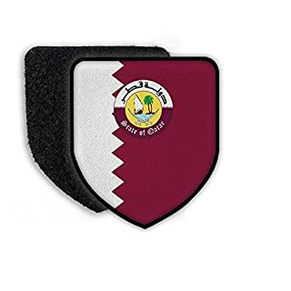 Patch Landespatch Qatar Doha Arabisch Arabien Landesemblem Flagge Stolz Heimat Wappenzeichen #21961