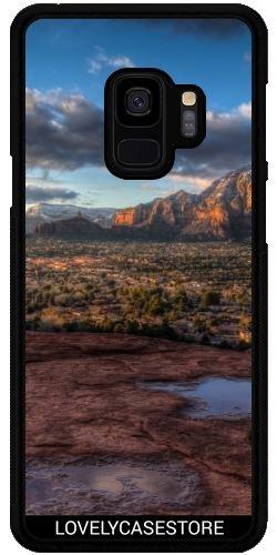 Lovelycasestore Hülle für Samsung Galaxy S9 Plus (SM-G965) - Grand Canyon Wüste USA USA Arid Cactus Sonnenuntergang