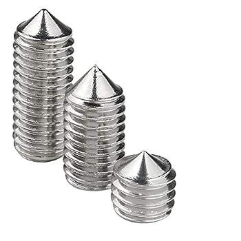 M6 Gtagain Quincaillerie Hexagonal Vis Pointeau Boulons Sans T/ête M5 M8 M/étriques Vis /à T/ête Cylindrique