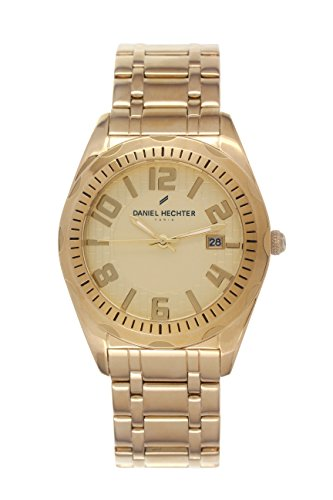 Daniel Hechter-DHH/023 1EM Men's Watch Analogue Quartz Golden Dial Gold Plated Steel Bracelet