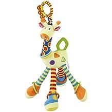 Baby Kinderwagen Spielzeug YKS Baby-Geklapper-Spielzeug weich Baby Rasseln mit Glocken Beißring Spielzeug mit Multifunktionen für Neugeborenes frühe Entwicklung