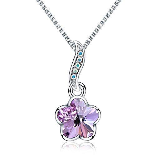 collar-con-colgante-de-mujer-18-forma-de-flor-swarovski-cristal-chapado-de-rodiopurpura