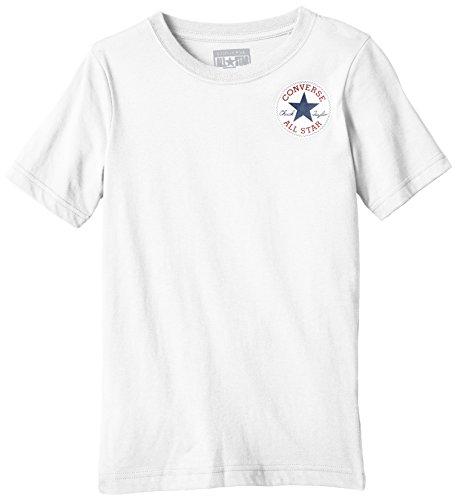 Converse Left Chest-T-shirt Bambini e ragazzi,    bianco 14-15 anni