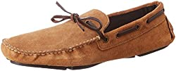 Knotty Derby Mens Riddle Tan Leather Loafers and Moccasins - 10 UK/India (44 EU)
