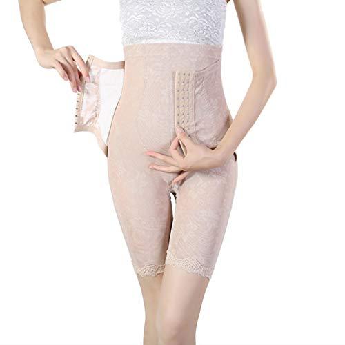 Rabbiter Damen Shapewear Figurformender,Spitze Atmungsaktiv Formende Bodys, Elegant Hohe Taille Taillenformer angenehm Shaping Bodysuit mit Haken - 3