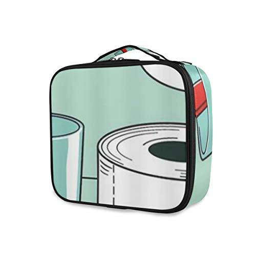 SUGARHE Lustige Zahnbürste Und Papiertuch,Kosmetik Reise Kulturbeutel Täschchen mit Reißverschluss