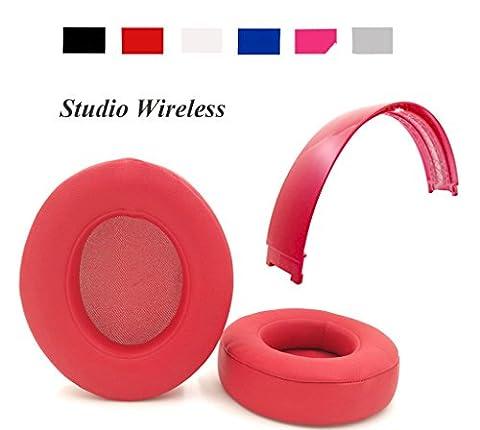 Reparatur-Set für Beats Studio Wireless Over-Ear/Beats Studio 2.0Kopfhörer Ersatz Ohrpolster Ohrkissen + Top Haarband