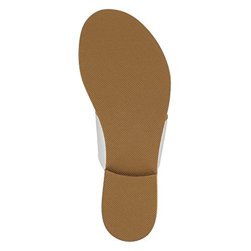 GRETA Damen Sandale Kombi Leder Silber