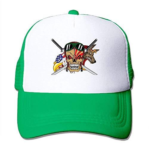 uykjuykj Baseball Caps Hats Adult Unisex Cap Animal Sword Skull Mesh Hat Dad Hat Baseball Cap Trucker Cap for Mens&Womens Adjustable Unique Personality Cap Baseballmütze (Display-racks, Großhandel)