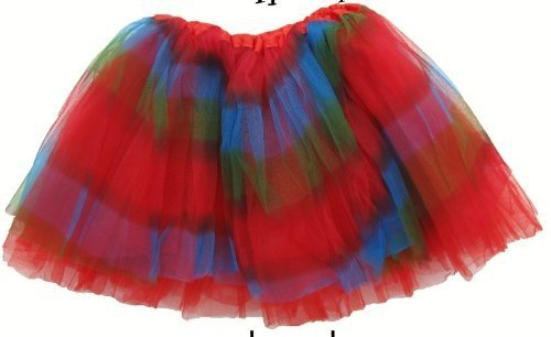 Girls Rainbow Ballet Tutu Basic Double Layered Ballerina Tutu by Lil Princess