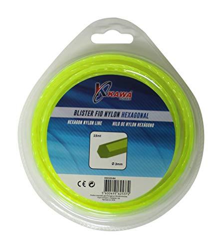 Kawapower KW100-84 Nylonfaden für Rasentrimmer 3MM 15MT Sechskant