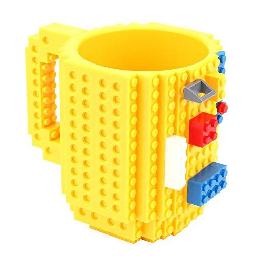 1989candy Build-On Brick Mug Coffee Cup DIY Creative Building Blocks Coffee Tea Beverage Milk Drinking Mug Cup Funny Gift for Boy Girl