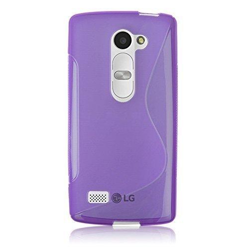 Connect Zone LG Leon H340N S Line Gel De Silicone Étui + Protection Ecran Protection Et Chiffon Polissage - Violet S Line Gel, LG Leon H340N