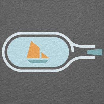 NERDO - Bottled Ship - Herren T-Shirt Grau