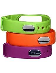 Correa de Recambio para LETSCOM ® Fitness Tracker ID101 / ID101HR- 3 Pack