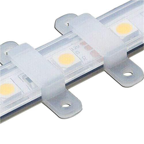 VIPMOON 100pcs / lot LED-Streifen-Verbindungsstück-Silikon-Befestigungs-Klipp für 10MM SMD5050 heller Streifen-flexibler heller Streifen-Befestigungs-Halter