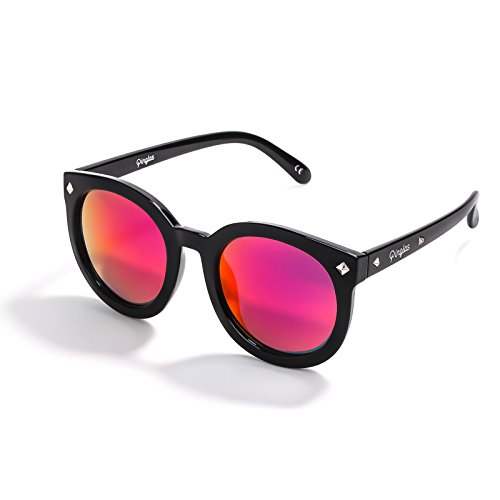 PORPOISE moderne Sonnenbrille mit Metallrahmen, REVO Gläser, UV400-Schutz, klassisches Design für Damen