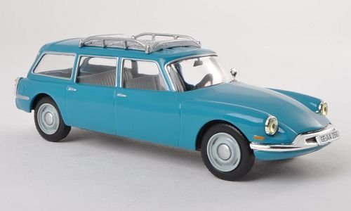 Citroen ID 19 Break, blau , 1960, Modellauto, Fertigmodell, WhiteBox 1:43 by Citroen