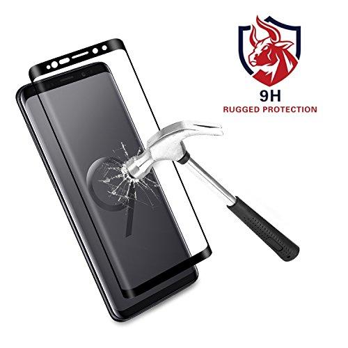 Samsung Galaxy S9 Plus, 3D Full Coverage Gehärtetem Glas Panzerglas Displayschutzfolie für Samsung Galaxy S9 Plus schutzfolie schwarz(6.2 Zoll) [ Lebenslange Garantie] ()