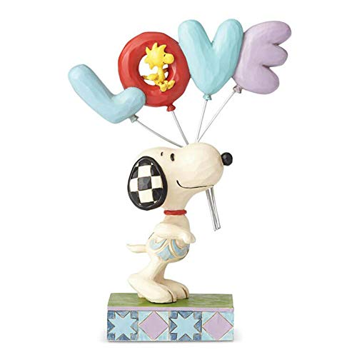 nuts Snoopy with Love Balloon Figurine 6001291 ()
