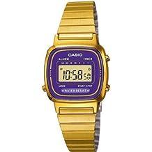 CASIO La670Wega-6Ef - Reloj de Mujer de Cuarzo, Correa de Acero Inoxidable Color