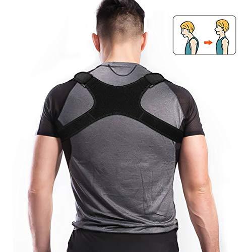 Charminer Posture Trainer, Support de Dos pour entraîneur d'épaule, correcteur de Posture Droite, bandoulière pour Douleur au Cou et aux épaules pour Dos Droit, pour Femm