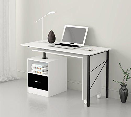 Cherry Tree Furniture L Shaped Expandable White Computer