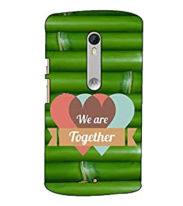 Fuson Designer Back Case Cover for Motorola Moto X Style :: Moto X Pure Edition (We are together )