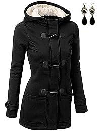 BUOYDM Cappotto Donna Felpa con Cappuccio Giacca Invernale Giacche e Cappotti Outwear Hoodies